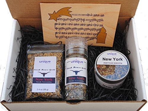 New York Steak House Seasoning Gift Box W Christmas Card