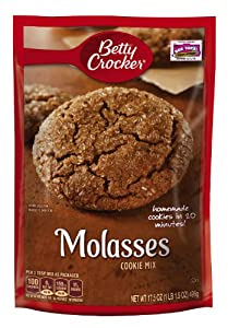 Betty Crocker Molasses Cookie Mix, 17.5-Ounce (Pack of 6)