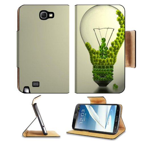 Green Electricity Sustainable Energy Art Creative Samsung Galaxy Note 2 N7100 Flip Case Stand Magnetic Cover Open Ports Customized Made To Order Support Ready Premium Deluxe Pu Leather 6 1/16 Inch (154Mm) X 3 5/16 Inch (84Mm) X 9/16 Inch (14Mm) Liil Note