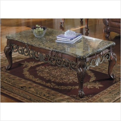 Homelegance Barcelona Cocktail Table with Marble Top