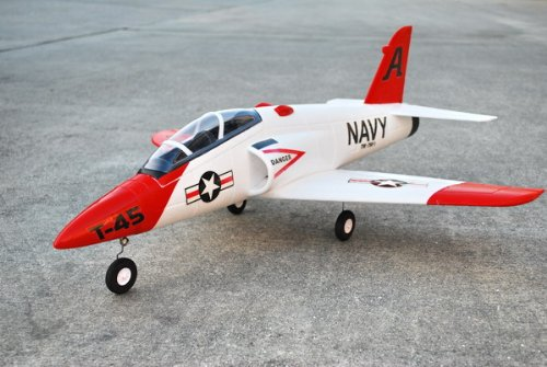 4 CH 2.4GHz Radio Remote Control Electric RC US Navy Goshawk T-45 Jet Plane RTF w/ EPO w/ High Crash Resistance + Brushless Setup