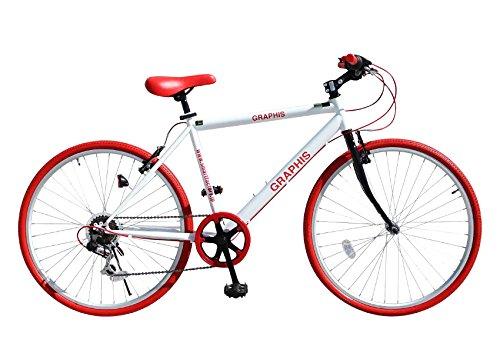 My Pallas(マイパラス) クロスバイク26インチ6段ギア カラー/ホワイトレッド GR-001-WRD