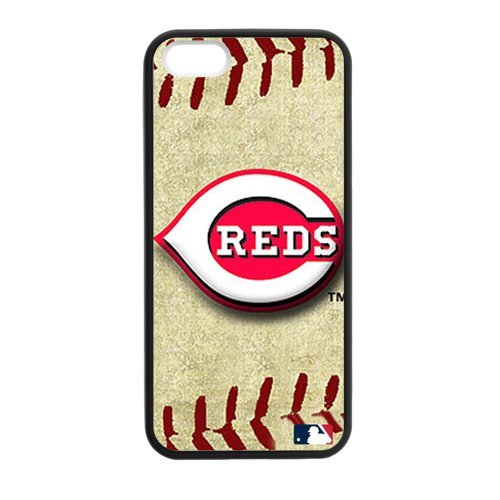Generic Cell Phone Cases Cover For Apple Iphone 5S Case Iphone 5 Case Forever Collectibles Fashionable Designed Baseball Team Cincinnati Reds Background Durable Plastic Shell
