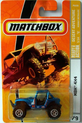 Matchbox 2009 #79 MBX 4x4 Blue - 1