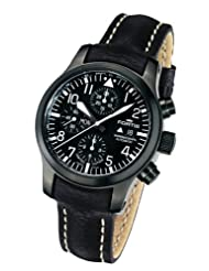 Fortis Men's 656.18.81 L.01 B-42 Flieger Automatic Black Leather Watch
