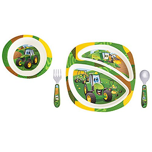John Deere's Johnny Tractor and Friends Feeding Set 4 Pieces - LP64811
