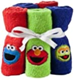 5-Pack Sesame Street Embroidered Wash Cloths