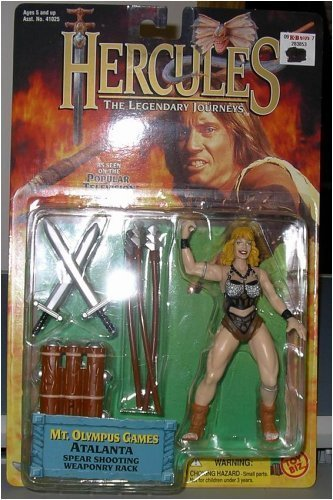 "Hercules The Legendary Journey's ""ATALANTA"" w/ Spear Shooting Weapon Rack"