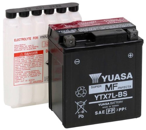 Poweroad BAT-YTX7L-BS Maintenance Free 12V Battery/Acid Pack