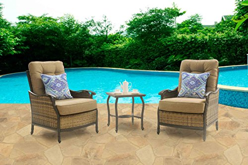 Hanover Hudson Square 3 Piece Outdoor Deep Seating Lounge