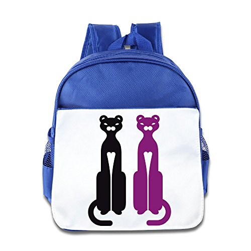 Custom Funny Panther Tattoo Children School Backpack For 1-6 Years Old RoyalBlue (50s Tattoos)