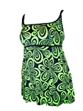 Longitude Womens Plus Size Swimdress Swimsuit Long Tankini 16-24