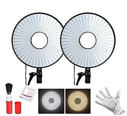 FalconEye ® Bi-Color 630 LED Ring Light 3000K~7000K adjustable Temperature Video Light For DSLRS (2 kits)