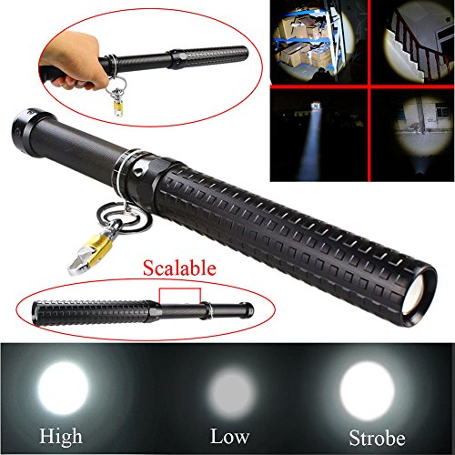 Your Supermart 2000 Lumen CREE Q5 Zoomable Baseball Bat LED Flashlight Security Torch Lamp