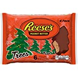 Reese's Holiday Peanut Butter Trees, 6-Count, 1.2 Ounce Trees (Pack of 4)