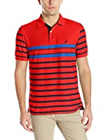 Nautica Men's Multi-Stripe Polo Shirt
