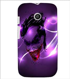 Printdhaba Joker D-2836 Back Case Cover For Motorola Moto E