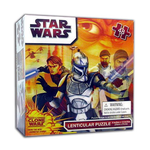 Cheap Cardinal Star Wars Clone Wars Lenticular 48 piece Puzzle (B004O556PG)