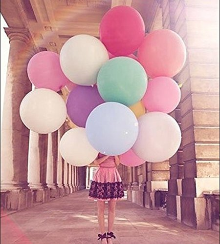 Ulike2 10 Pcs/lot Super Big Balloons 27 Inches Round Balloons Large Balloons 12g Wedding Party Holiday Toys Arrangement