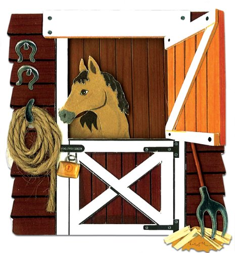 Horse In The Stable Sticker