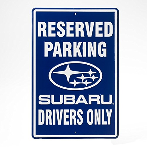 genuine-subaru-reserved-parking-sign-legacy-wrx-sti-outback-forester-rally-blue