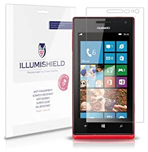 iLLumiShield - Huawei Ascend W1 Screen Protector Japanese Ultra Clear HD Film with Anti-Bubble and Anti-Fingerprint - High Quality (Invisible) LCD Shield - Lifetime Replacement Warranty - [3-Pack] OEM / Retail Packaging
