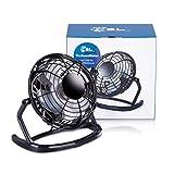 CSL - desk-fan / Fan to connect i.e. with the PC | desk fan / Fan | PC / Notebook | black