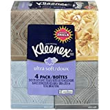 """1 X KLEENEX Ultra Soft Facial Tissue, 3-Ply, White, 8.2""""X 8.4"""" , 75/Box, 4 Box/Pack - Packaging May Vary(Assorted color and style boxes)"""