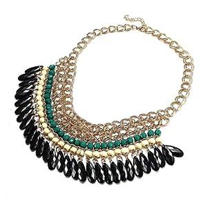 Vintage Gliederkette Kette Halskette Halsschmuck Perlen Party