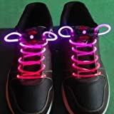 BFlowerYan LED Light Up Shoelaces - Pink