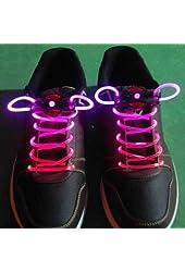 BFlowerYan LED Light Up Shoelaces - Pink