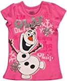 Disney Frozen Olaf Snowman Toddler Girls T Shirt (2T)