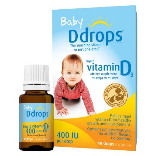 凑单品:Ddrops Baby Vitamin D3 婴儿维生素D3滴剂 (400 IU,90天量) $8.8