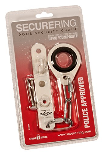 SecureRing Police Approved Door Security Chain - Metal Reinforced and Suitable for All Doors (Chrome) (Wifi Door Handle compare prices)