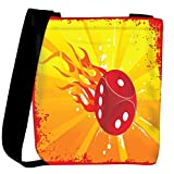 Snoogg abstract grunge frame of vector dice Womens Carry Around Cross Body Tote Handbag Sling Bags