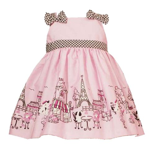 Rare Editions Baby Infant Girls 12M 24M 2 Piece PINK PARIS