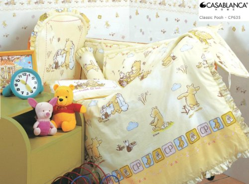 Disney Classic Winnie The Pooh Cp635 Baby Crib 12Pcs Bedding Set (330 Threads / 10Cm Squared) 100% Cotton front-25715