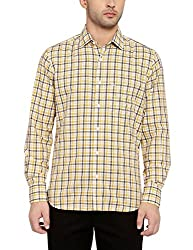 Colorplus Men's Casual Shirt (8907397516515_CMSS25766-Y4_Large_Medium Yellow)