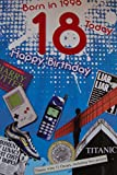 18. Geburtstagskarte 1998Jahr You Were Born Stecker