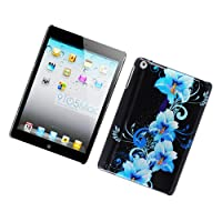 Eagle Cell PIIPADMINIG2D169 Stylish Hard Snap-On Protective Case for iPad mini - Retail Packaging - Four Blue Flowers from Eagle Cell