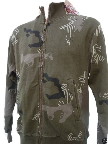 QUIKSILVER Mens Camo Wash Zip Up Jacket Top. Size Small