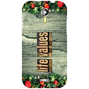 Micromax A 117 Phone Cover - Life Values Matte Finish Phone Cover