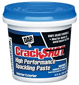 Dap 12374 Crack Shot Spackling Interior/Exterior, 1/2-Pint