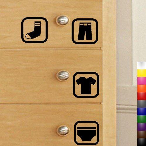 Cheap StikEez 4-Pack Dresser Drawer Visual Labels for Kids Clothes Fun & Educational Decals (B004FRM7UK)