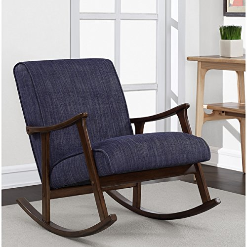 Retro Indigo Wooden Rocker 0