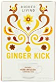 Higher Living Organic Ginger Kick 15 Teabags (Pack of 6, Total 90 Teabags)