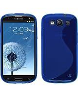 Custodia in Silicone per Samsung Galaxy S3 Neo - S-Style blu - Cover PhoneNatic + pellicola protettiva