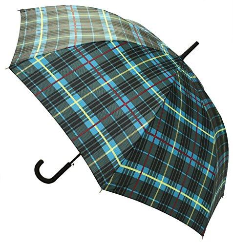 【晴雨兼用】 長傘 ジャンプ傘 グリーンチェック 65cm MSL-001