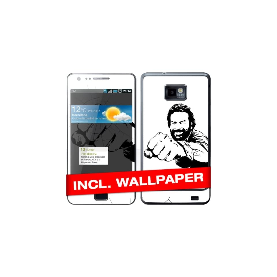 Samsung Galaxy S2 I9100 Skin Bud Spencer Sticker Handy