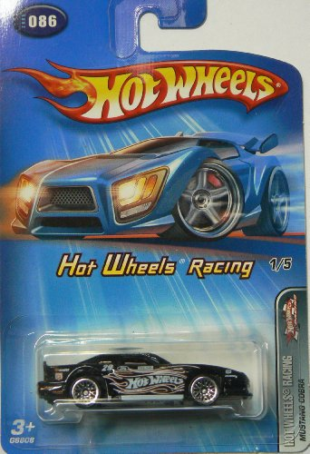 Hot Wheels Racing Mustang Cobra Black 2005 086 1/5